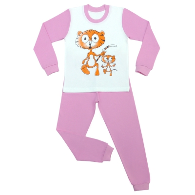 Пижама тигрята беж.
