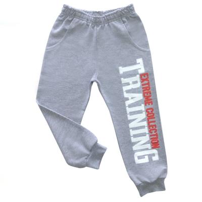 Трикотажные брюки серый- меланж 98,104,110,116,122