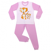 Пижама тигрята розовая