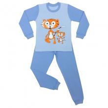 Пижама тигрята голубая